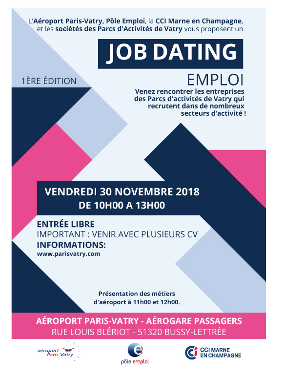 Job dating emploi - Aéroport Paris-Vatry