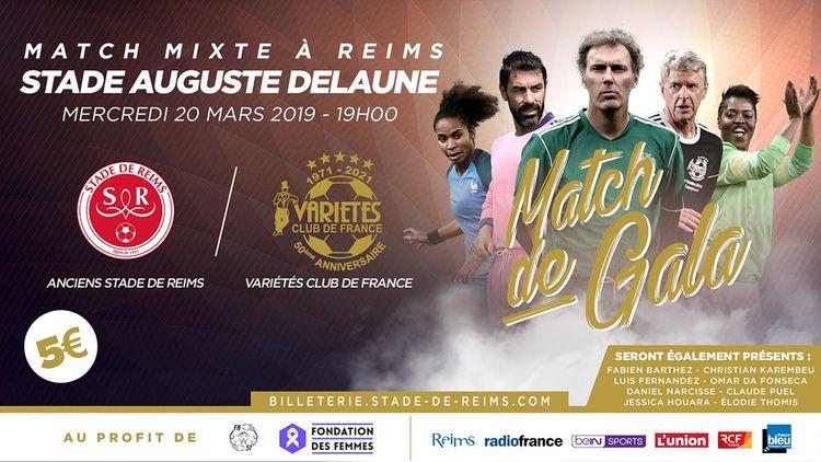 Match de gala du Variétés Club de France à Reims