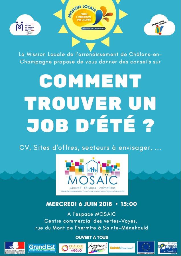 Rendez-vous de l'emploi : Jobs d'été - Sainte-Ménehould