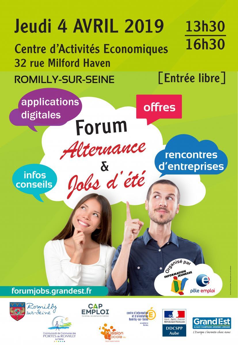 Forum Jobs et alternance - Romilly-sur-Seine