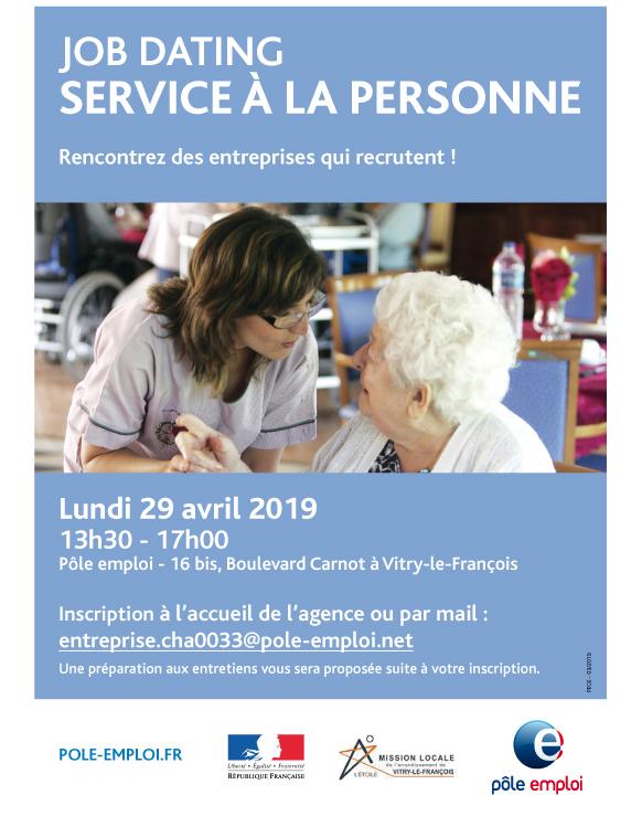 Job dating Service à la personne - Vitry-le-François