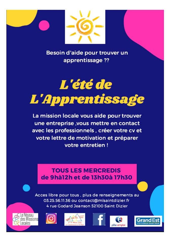 L'été de l'apprentissage - Saint- Dizier