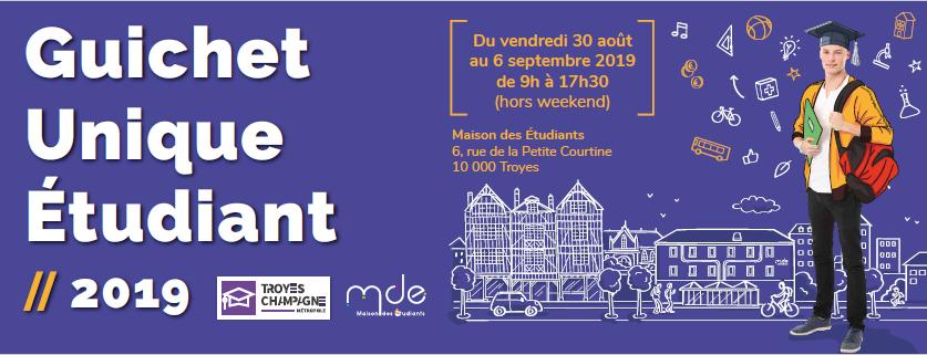 Guichet Unique Étudiant 2019 - Troyes