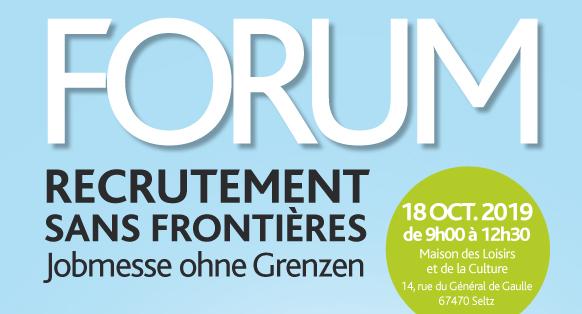 Forum recrutement sans frontières à Seltz