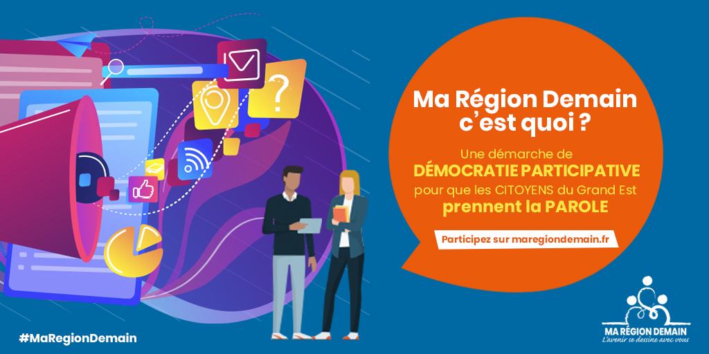 """""""Ma Région Demain"""" : fais tes propositions pour le Grand Est !"""
