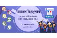 Ce mercredi 30 septembre, vient t'informer au Forum de l'Engagement. [...]