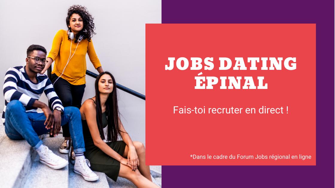 Jobs dating Epinal : une action dans le cadre du Forum Jobs en ligne [annulé]